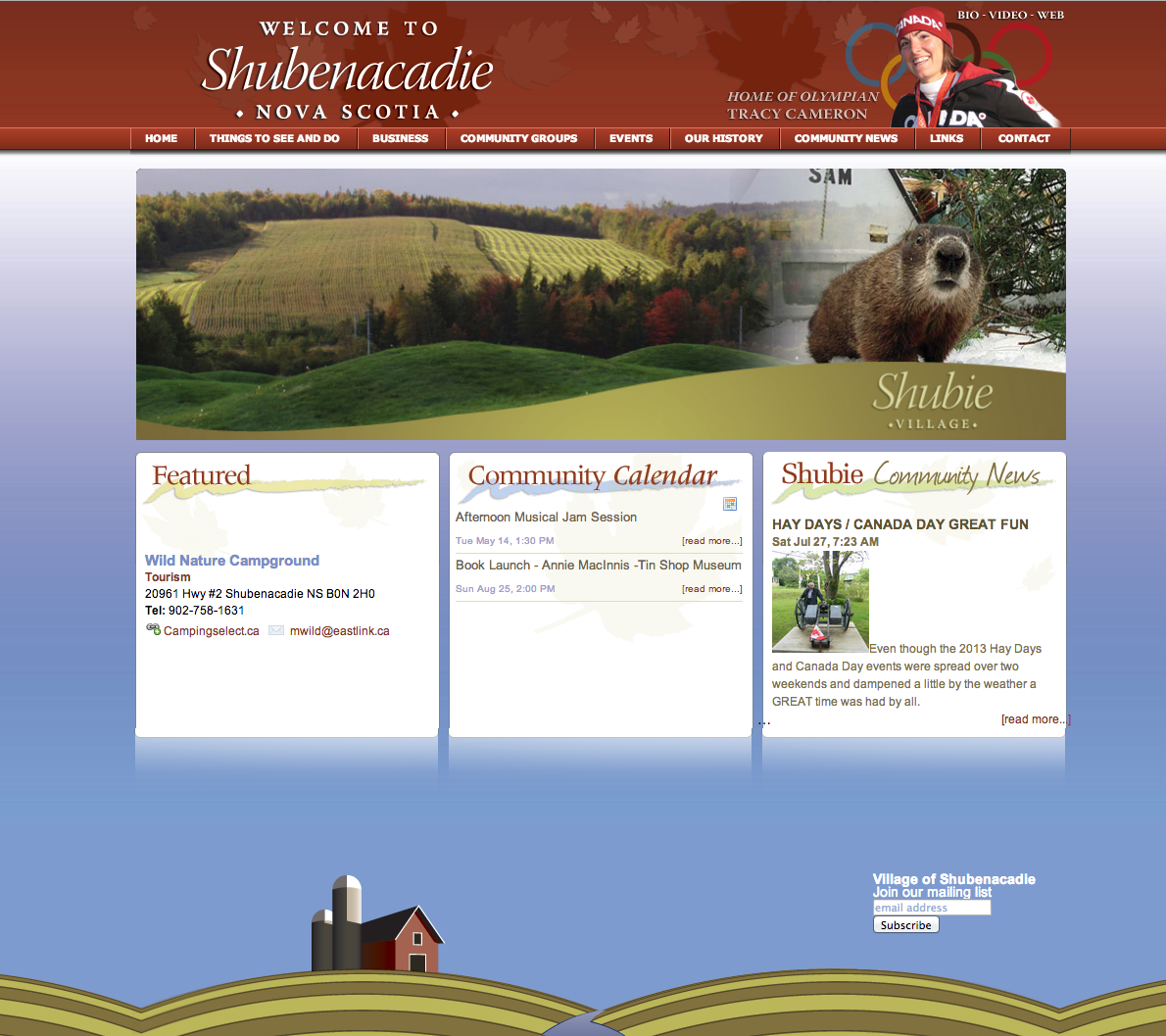 The Village of Shubenacadie Nova Scotia