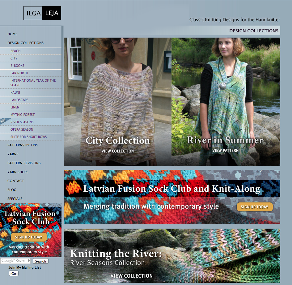 Ilga Leja Classic Knitting Patterns for the Handknitter