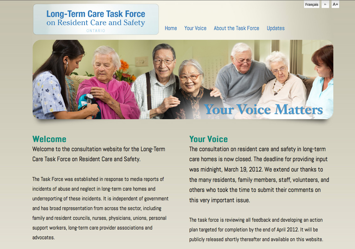 Long Term Task Force on Resident Care & Safety
