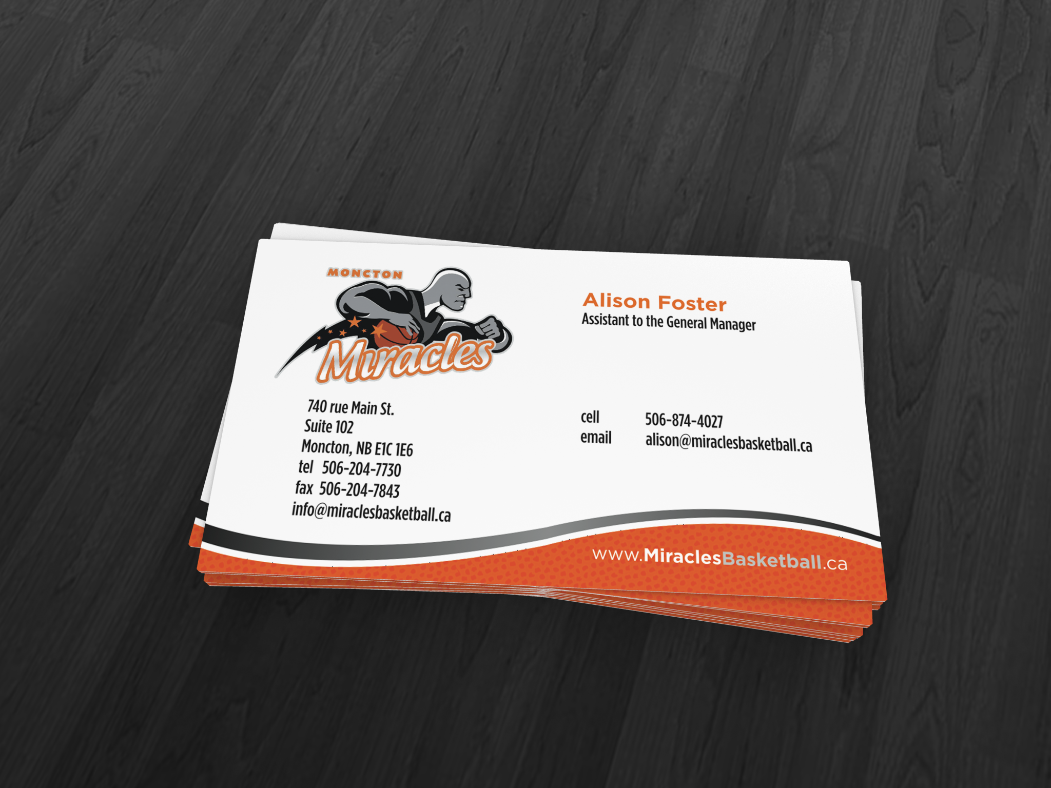 Moncton Miracles Business Card