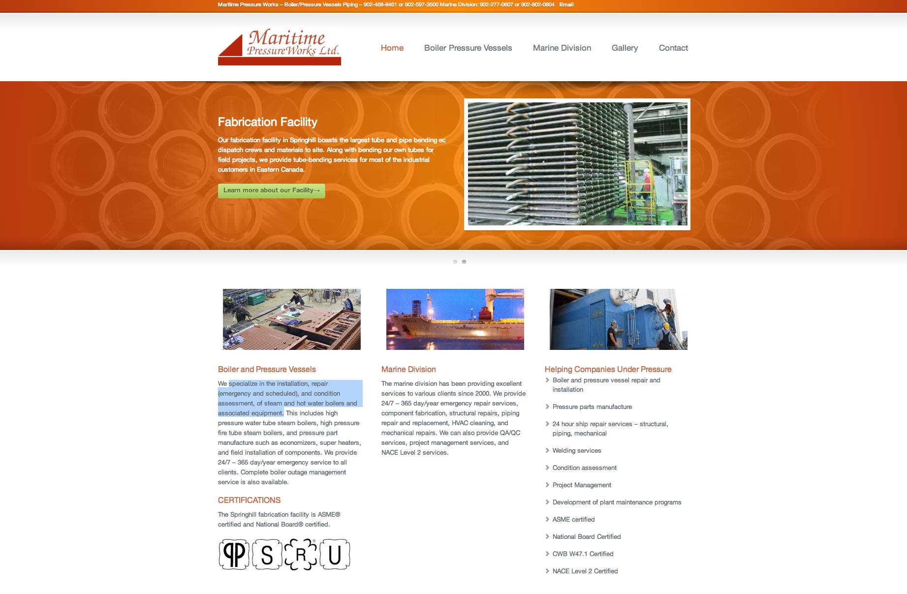 Maritime Pressure Works Ltd