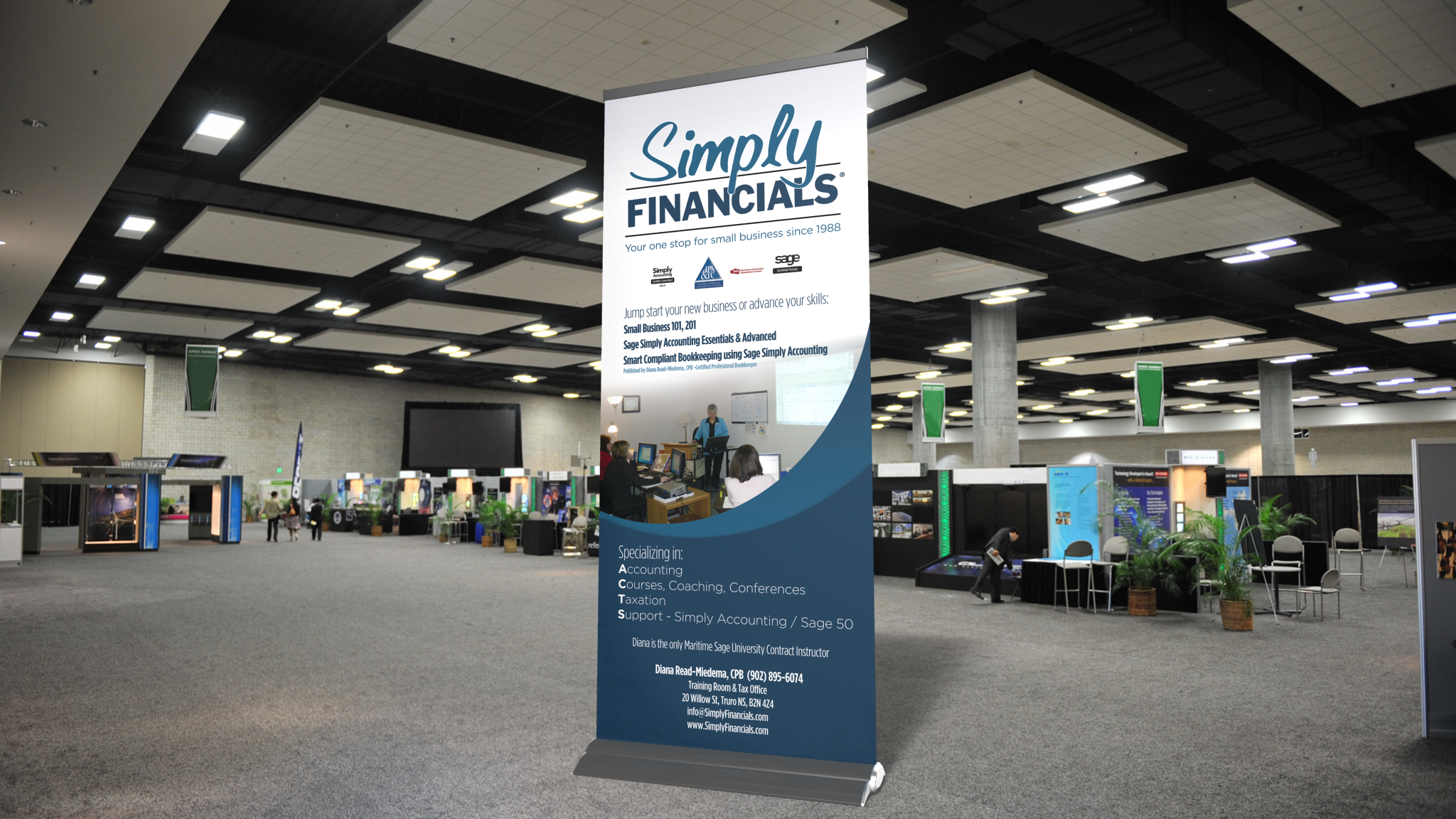 Simply Financials - Tradeshow Banner
